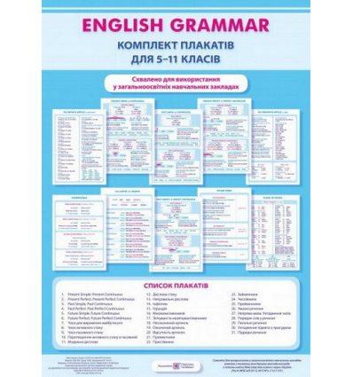 Англійська граматика 5–11 класи Комплект плакатів