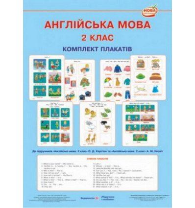 Англійська мова 2 клас Комплект плакатів Косован О.