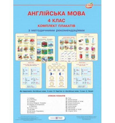 Англійська мова 4 клас Комплект плакатів Косован О.