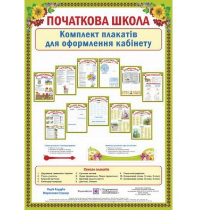 Комплект плакатів для оформлення кабінету Кордуба Н.