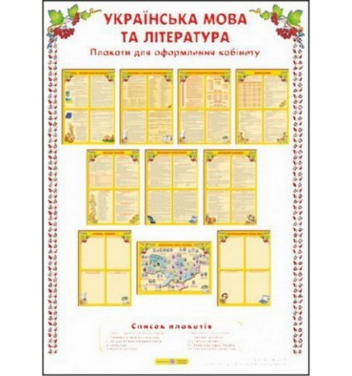 Українська мова і література Комплект плакатів Давидова О.