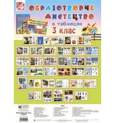 Образотворче мистецтво в таблицях 3 клас комлект плакатів Трач С.