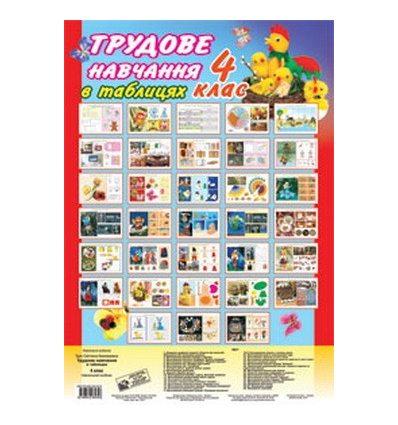Трудове навчання в таблицях 4 клас Трач С. комплект плакатів