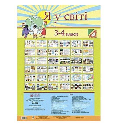 Я у світі в таблицях 3-4 класи Заброцька С. комплект плакатів