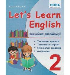 Let's learn English Вивчаймо англійську 2 клас НУШ авт. Доценко, Євчук вид. Абетка