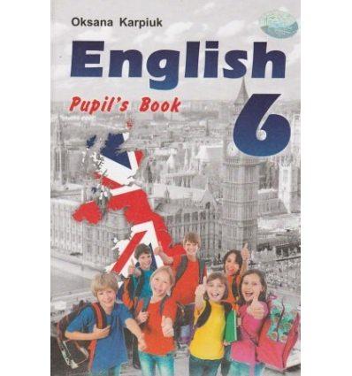 Підручник Англійська мова (English) 6 класу Карпюк О.Д.