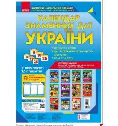 Календар знаменних дат України Комплект плакатів