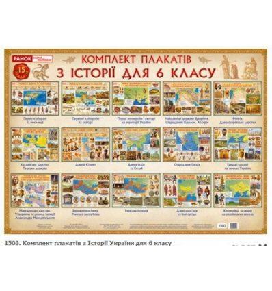 Історія України 6 клас Комплект плакатів