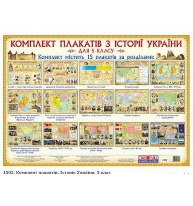 Історія України 5 клас Комплект плакатів