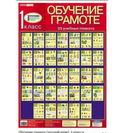 Обучение грамоте (русский язык) 1 класс комплект плакатов