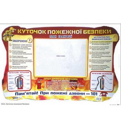 Куточок пожежної безпеки плакат-стенд
