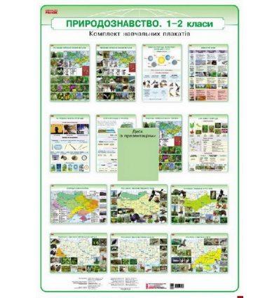 Природознавство 1-2 класи плакати + CD диск